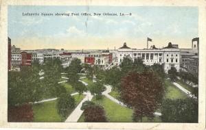 Lafayette Square showing Post Office, New Orleans, La.