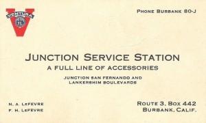 Business card of Fred LeFevre