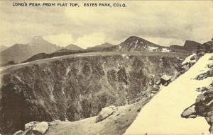Long's Peak from Flat Top, Estes Park Colo.