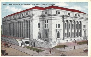 The new Post office and Federal Court House has just recently been completed at a cost of $1,500,000 and is one of the finest buildings ever constructed in the West.  It is 200 feet by 300 feet in size and was built of Colorado marble.  The site cost $500.000.
