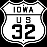 Hwy shield with state name and number.  (Public Domain)