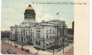 Kansas City Post Office (Postcard courtesy of www.squeezeboxcity.com)