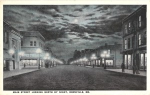 Boonville Main Street at Night