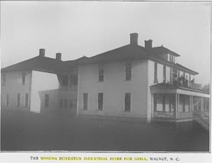 The Winona Boydstun Industrial Home for Girls, Walnut, N.C.  Found this picture in the August 1908 Home Mission Monthly Journal which was not copyrighted.