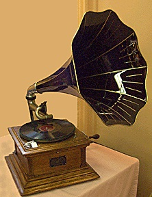 a Victrola (photo courtesy of Henry Mowry)