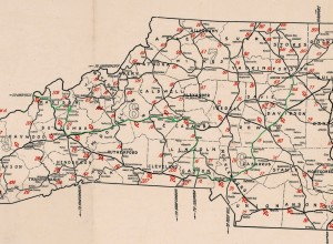 Portion of the 1922 NC route Map.  I highlighted in Green the Route I think they took.  Click here to see the full map