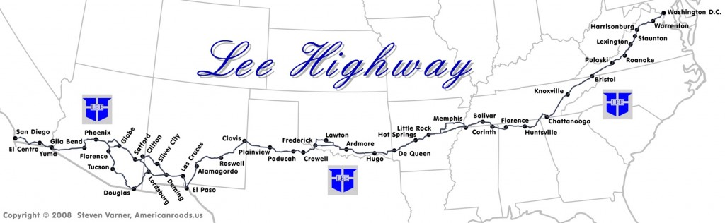 Lee Highway map (provided by Steven Varner)