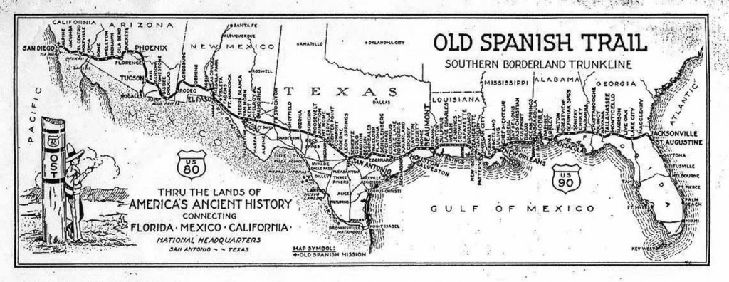Old Spanish Trail Map click on it to enlarge