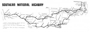 Southern National Highway Map (provided by Steven Varner)