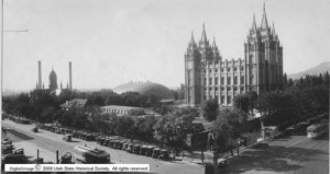 Used by permission, Utah State Historical Society Title: Salt Lake Temple Square p.34 Collection: Utah State Historical Society Classified Photo Collection; A. L. Inglesby Collection Photo #: 06405