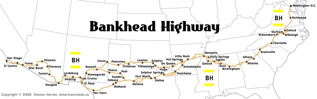 Bankhead Highway Map (provided by Steven Varner)