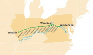 Cumberland or National Highway Map (Public Domain)