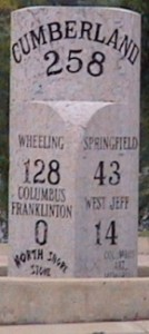 Cumberland Mile Post (Public Domain)