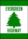 Evergreen Highway Marker