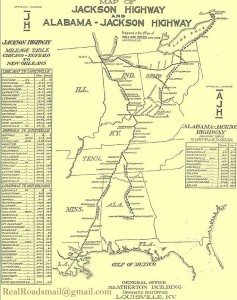 Jackson Highway Map  form the early 20's Courtesy of John Murphey