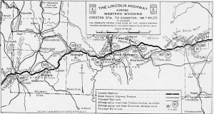 Western Portion of Lincoln Highway in Wyoming from The Complete Official Road Guide of the Lincoln Highway: 1924 Edition by the Lincoln Highway Association