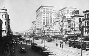 Canal Street (early 20s) Courtesy of Old New Orleans