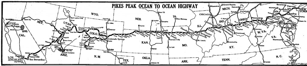 Pike Peak Ocean to Ocean Highway Map (Public Domain - provided by Federal Highway Administration)