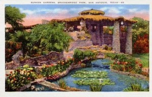 Japanese Sunken Garden Courtesy of TXGenWeb Project Texas Postcards