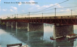 The bridge over the Wabash River in Terre Haute courtesy of Ray Miscellany's postcards