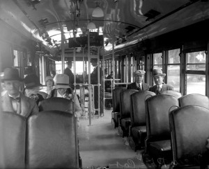 Inside of an LA street car courtesy of Water and Power