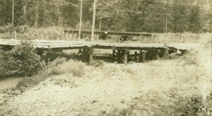"Old Wooden Bankhead Highway bridge ""Courtesy of Texas State Library and Archives Commission."""