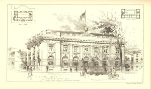 Kansas City, Kansas Post Office U.S. Treasury Department, Annual Report of the Supervising Architect of the Treasury Department for the Fiscal Year Ended June 30, 1900 (Washington, D.C.: GPO, 1900).