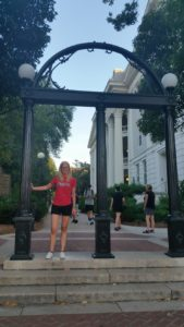 Pam at the University of Georgia Arch