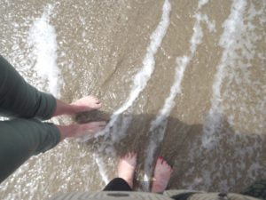 our feet getting wet