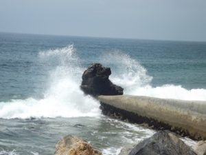 cool feature about some cameras - continuous - you can catch the wave crashing on the rock. :-)