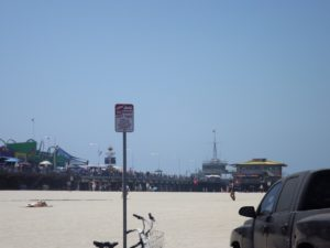 Malibu pier. Got this picture from the parking lot we were driving thru