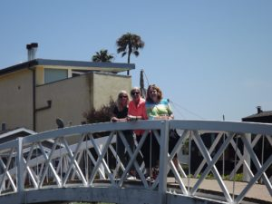 sisters at Venice walkway