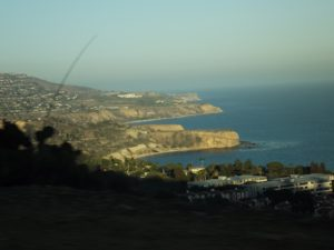 view of San Pedro area from the hills