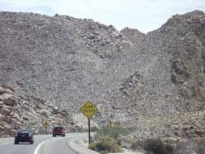 mountain piles of rocks