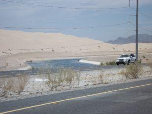 concrete river thru the dunes