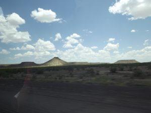 mountain and flat mountains.