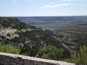 view from the top of one of the mesas