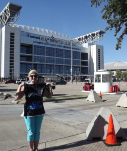 Susan wanted to have the first Panther flag at the NRG Stadium, Home of Super Bowl 51