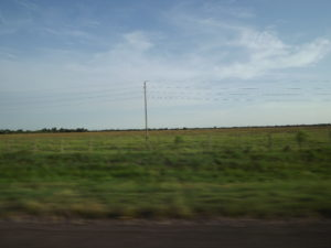 Flat country that we were in all day