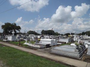 Above ground cemetery in La