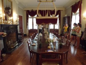 Oak Alley dining room