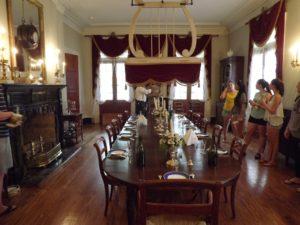 Oak Alley dining room