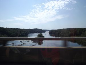 The river between SC and GA