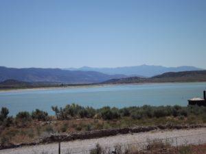 really aqua blue lake