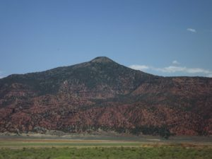 mountains getting redder